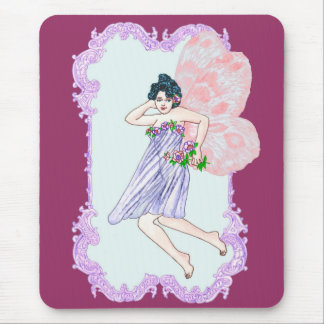 Colourful Victorian Faerie Mouse Pad