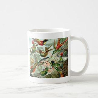 Colourful vintage art humming birds paradise found mugs