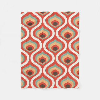 Colourful vintage droplets fleece blanket