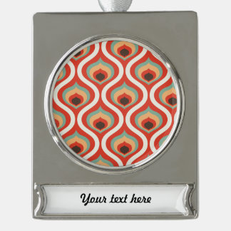Colourful vintage droplets silver plated banner ornament