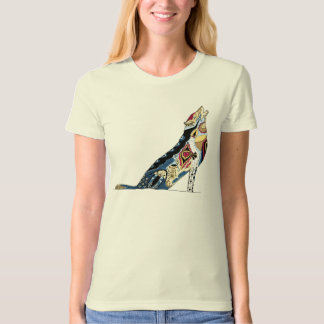 Colourful Wolf T Shirt