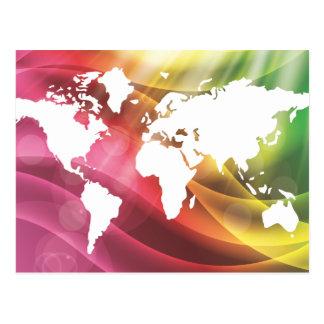 Colourful World Postcard