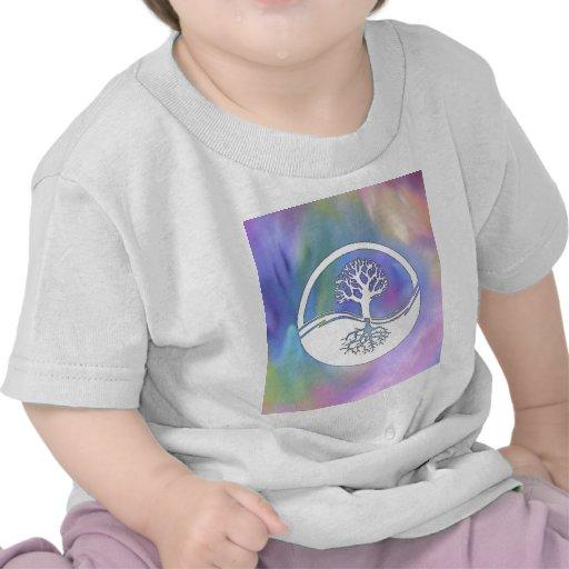 Colourful yin and yang design t shirts