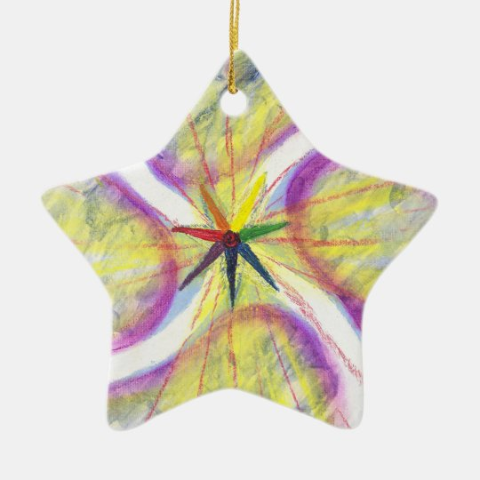 Colourful Yule ornament for tree, mantle or window