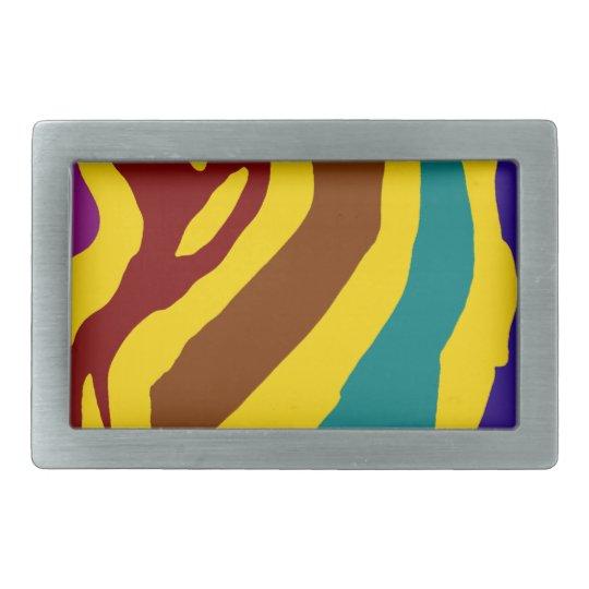 Colourful zebra stripes belt buckle