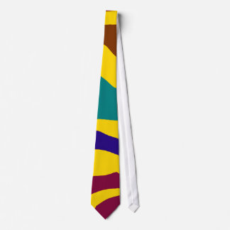 Colourful zebra stripes neck tie