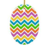 Colourful Zigzag pattern Ceramic Ornament