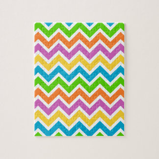 Colourful Zigzag pattern Jigsaw Puzzle
