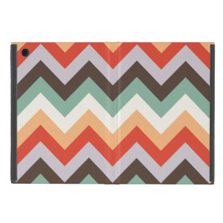 Colourful zigzag stripes iPad mini case