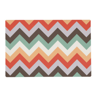 Colourful zigzag stripes placemat