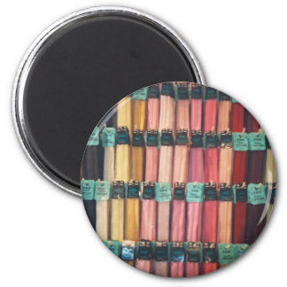 COLOURFUL ZIPS 2 INCH ROUND MAGNET
