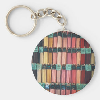 COLOURFUL ZIPS BASIC ROUND BUTTON KEYCHAIN