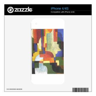 Colourfull forma en agosto Macke Calcomanías Para El iPhone 4