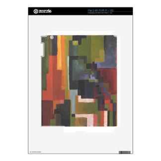 Colourfull forma en agosto Macke iPad 2 Calcomanía
