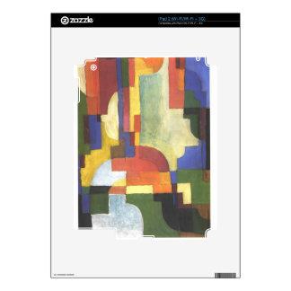 Colourfull forma en agosto Macke iPad 2 Skins