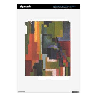 Colourfull forma en agosto Macke Pegatinas Skins Para iPad 3