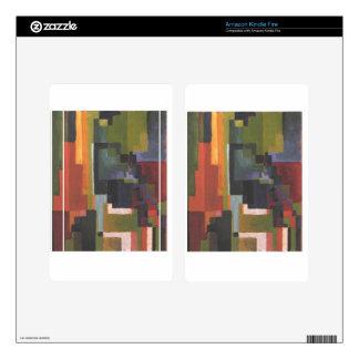 Colourfull forma en agosto Macke Pegatinas Skins Para Kindle Fire