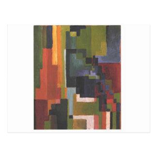 Colourfull forma en agosto Macke Postal