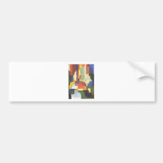 Colourfull shapes by August Macke Bumper Sticker