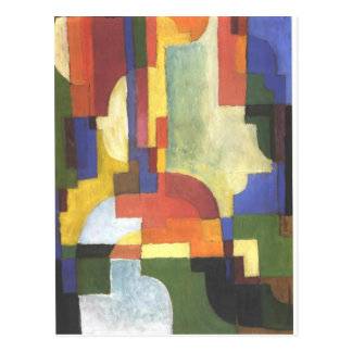Colourfull shapes by August Macke Postcard