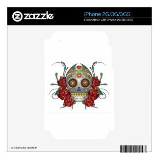 Colourfull Skull Design iPhone 3G Skins