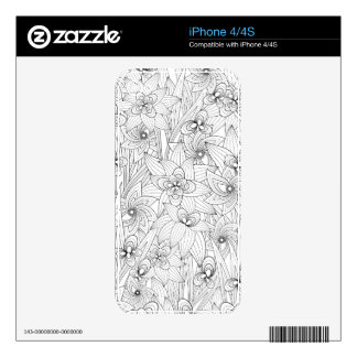 Colouring Book Style iPhone 4 Skins