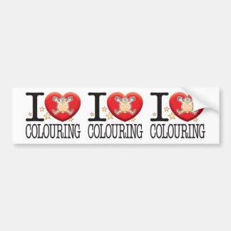 Colouring Love Man Bumper Sticker