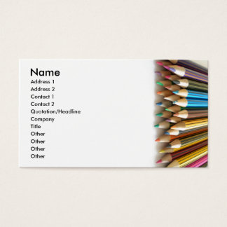 Colouring Pencils Business Card