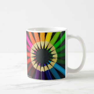 Colouring pencils coffee mug