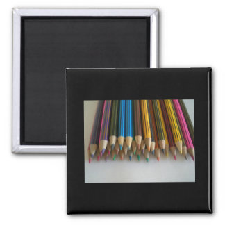 Colouring Pencils 2 Inch Square Magnet