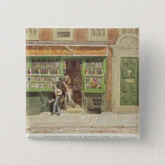 Colourman's Shop, St Martin's Lane, 1829 Pinback Button