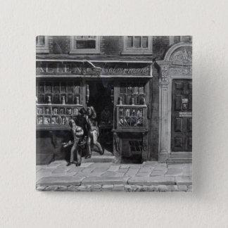 Colourman's Shop, St. Martin's Lane, London, 1829 Pinback Button