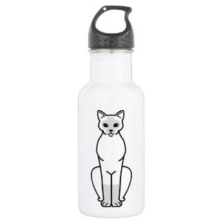 Colourpoint Shorthair Cat Cartoon Water Bottle