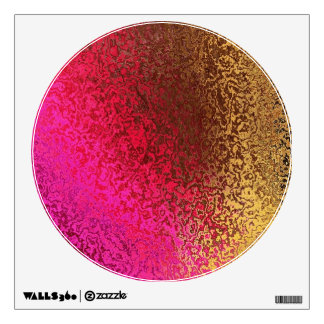 Colours in circle wall sticker