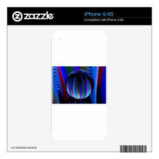 Colours in the crystal ball decal for iPhone 4S
