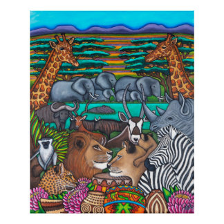 Colours of Africa Extra Lrg Print 36.32 x 44.88