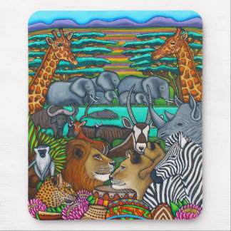 Colours of Africa Mouse pad by Lisa Lorenz