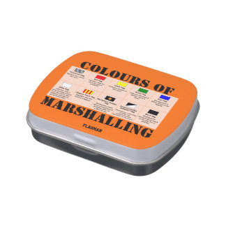 """""""Colours of Marshalling"""" by Flagman Jelly Belly Candy Tin"""