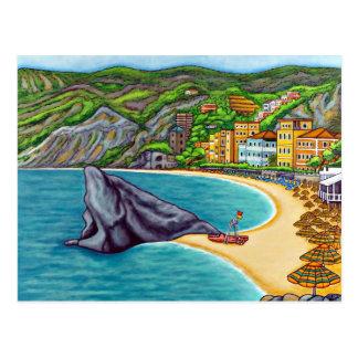 Colours of Monterosso Postcard