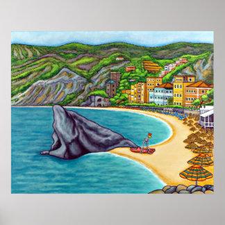 Colours of Monterosso Print
