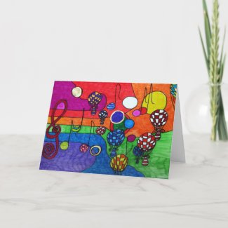 Colours of Music Greeting Card card