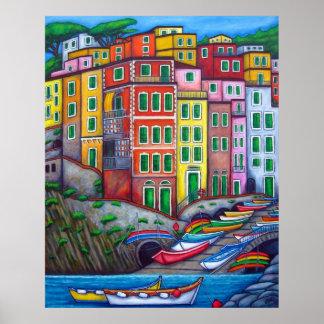 Colours of Riomaggiore by Lisa Lorenz Print