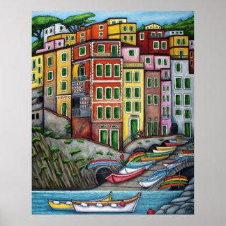 Colours of Riomaggiore, Cinque Terre Posters