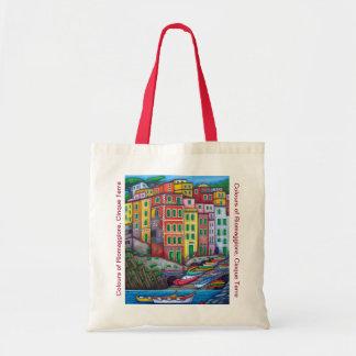 Colours of Riomaggiore Cinque Terre Tote Bag