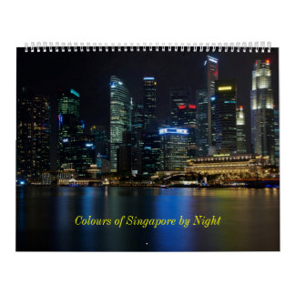 Colours of Singapore by Night Calendar