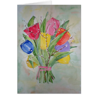 Colours of Tulips Card