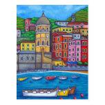 Colours of Vernazza, Cinque Terre Post Card