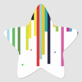 colours star sticker