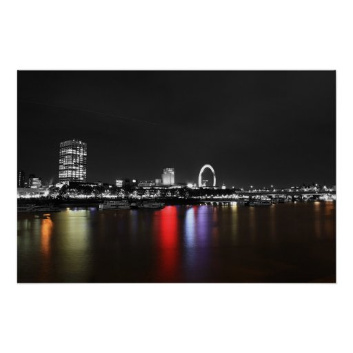 Coloursplas del horizonte de Londres Poster