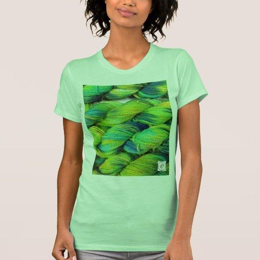 ColourSpun Handyed Yarn- Greens Tees